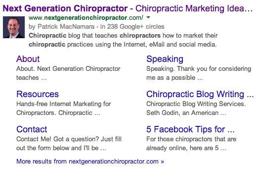chiropractic marketing google+