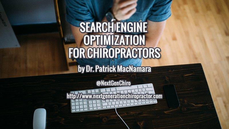 Search Engine Optimization for Chiropractors