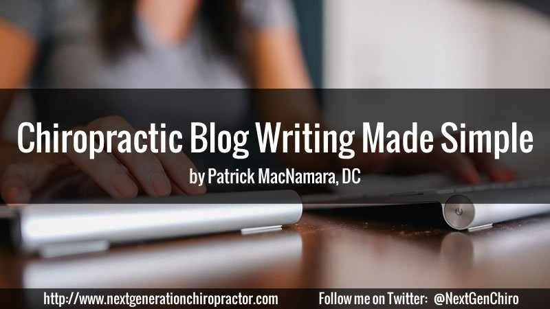 chiropractic blog writing