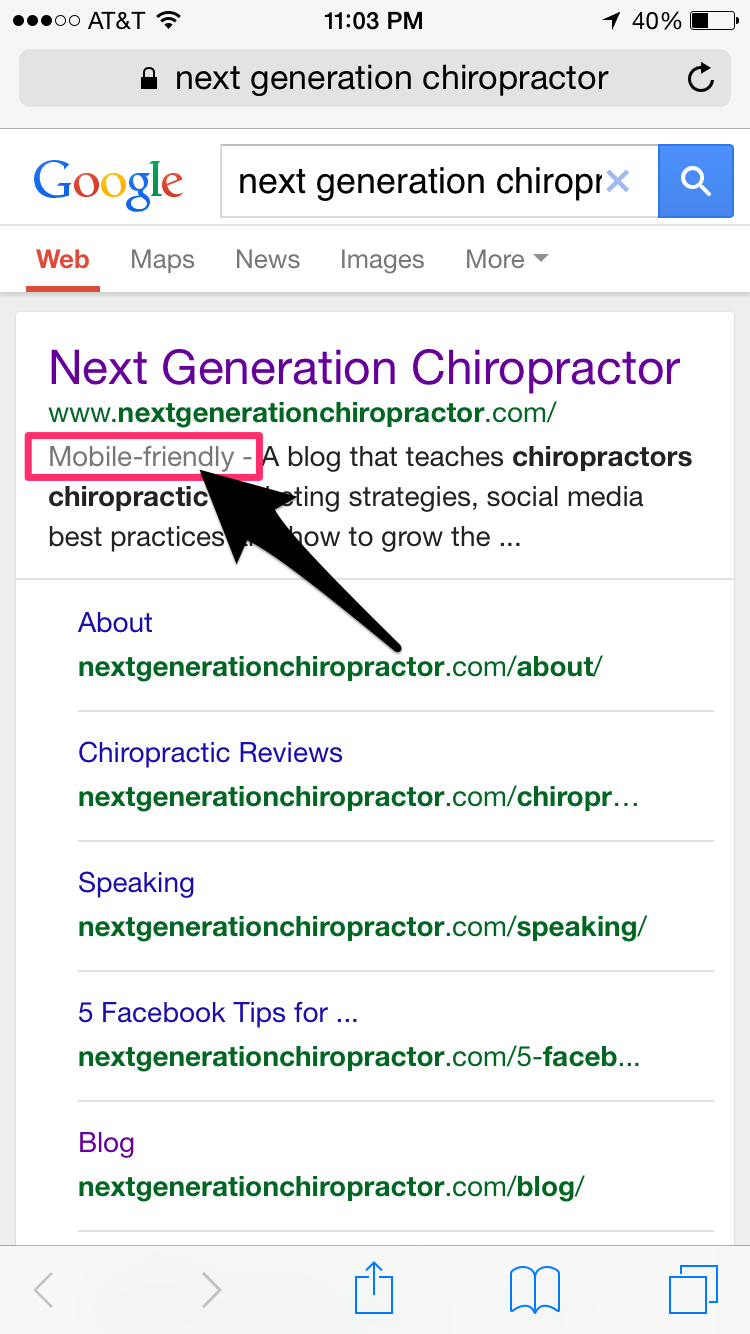 chiropractor-google-mobile-update