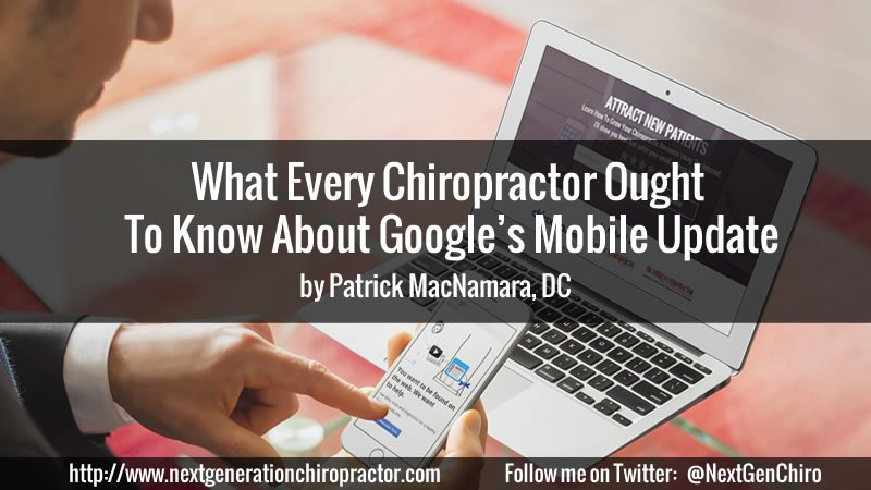 Chiropractor Google Mobile Update